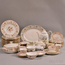"Group of Royal Crown Derby ""Lucienne"" Porcelain Dinnerware.     Estimate $400-600"