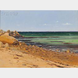 Hillary Osborn (American, b. 1965)      The End of Old Silver Beach