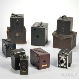 "Ansco ""Memo"" and Six Box Cameras"