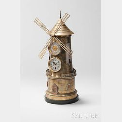 French Industrial Windmill Automaton Clock Compendium