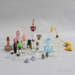Group of Glass Perfumes