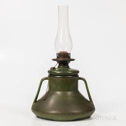 Hampshire Pottery Oil Lamp