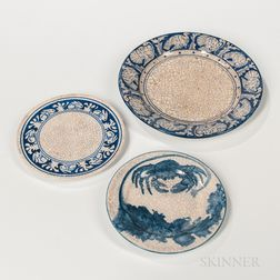 Three Pieces of Dedham Pottery Tableware
