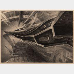 Richard C. Harden (American, b. 1956)      Three Unframed Lithographs: The Bridge