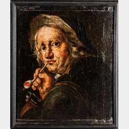 Dutch School, 17th Century      Head of a Man Smoking a Pipe