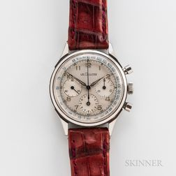 LeCoultre Three-register Stainless Steel Chronograph