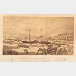 Photograph of Engraving of THE CUNARD ROYAL MAIL STEAMSHIP 'BRITANNIA,'