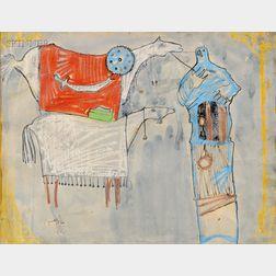 Faiq Hussain (Iraqi, 20th Century)      Composition No. 1