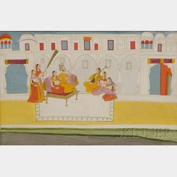 Large Indian Watercolor