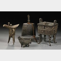 Four Archaic-style Bronze Vessels