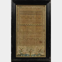 18th Century Needlework Sampler