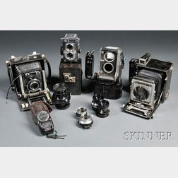 Collection of Medium and Large Format Cameras and Lenses