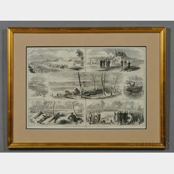 Winslow Homer & Alfred Waud Print Our Army Before Yorktown, Virginia