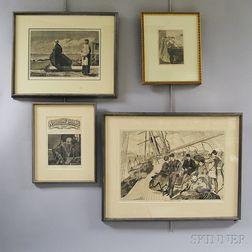 Four Framed Winslow Homer Engravings