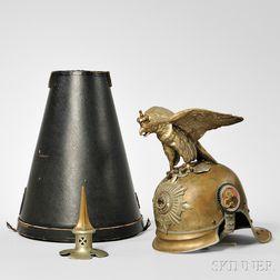 Prussian Gardes Du Corps Helmet and Case