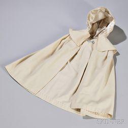 """""""The Dorothy"""" Model White Wool Child's Shaker Cloak"""