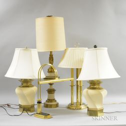 Group of Mid-Century Modern Table and Desk Lamps