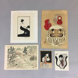 Five Modern Woodblock Prints