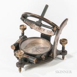 Troughton & Simms Miniature Equinoctial Sundial