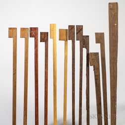 Twenty-two Pieces of Alternative Bow Wood