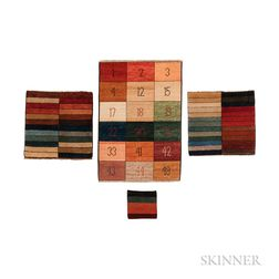 Four Rug Color Samplers