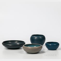 Four Marblehead Pottery Bowls