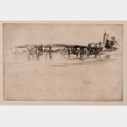 James Abbott McNeill Whistler (American, 1834-1903)      The Little Putney No. 1