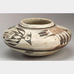 Southwest Polychrome Pottery Seed Jar