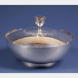 Tommi Parzinger Designed Arts & Crafts Sterling Covered Bowl