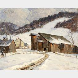 Robert Shaw Wesson (American, 1902-1967)      Winter Barn