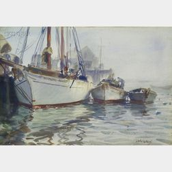 John Whorf (American, 1903-1959)      Foggy Morning, Provincetown