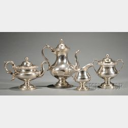 Assembled Four-Piece Coin Silver Tea and Coffee Service