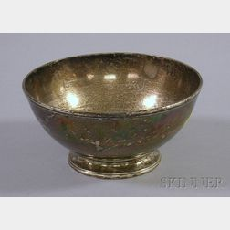 Jones, Lows & Ball Coin Silver Footed Bowl