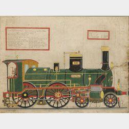Italian School, 19th Century      Illustration of the Steam Locomotive VITTORIO EMANUELE [II].