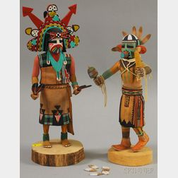 Two Signed Contemporary Kachina Dolls