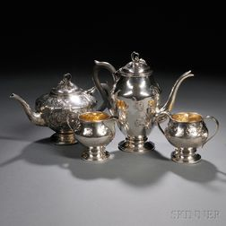 Four-piece Canadian Sterling Silver Tea and Coffee Service