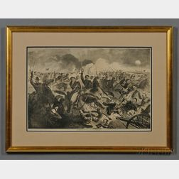 Winslow Homer Print The War for the Union 1862-A Cavalry Charge