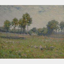 Jacob Wagner (American, 1852-1898)      Spring Landscape