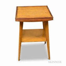 Mid-Century Modern Bleached Birch Veneer Side Table