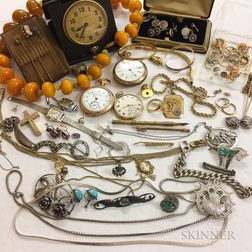 Group of Assorted Gold and Silver Jewelry