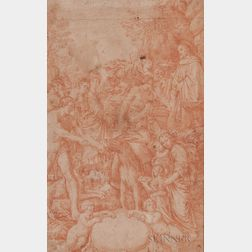 Italian School, 17th/18th Century      A Procession of Biblical Personages
