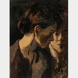 Moses Soyer (American, 1899-1974)      Two Girls