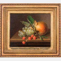 American School, 19th Century      Still Life with Fruit