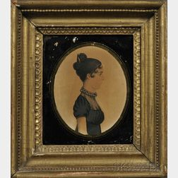 Portrait Miniature of a Lady in Profile