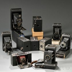 Ten Kodak Roll Film Cameras