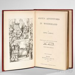 Dodgson, Charles Lutwidge [aka] Lewis Carroll (1832-1898) Alice's Adventures in Wonderland