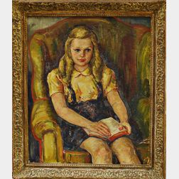 Attributed to Waldo Peirce (American, 1884-1970)       Young Girl