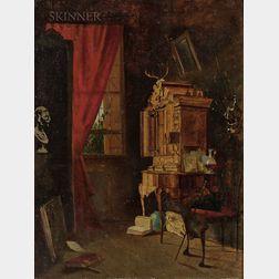 Attributed to John Beaufain Irving (American, 1825-1877)      Gentlemen's Study
