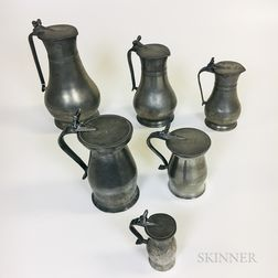 Six Pewter Measures