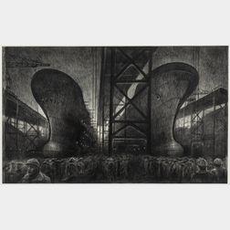 Richard C. Harden (American, b. 1956)      Shipyard